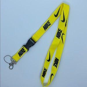 Yellow Nike Lanyard Detachable Keychain